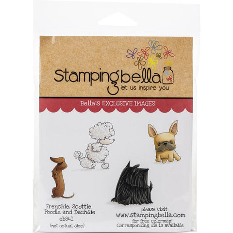 Stamping Bella Cling Stamps Frenchie, Scottie, Poodle & Dachsie