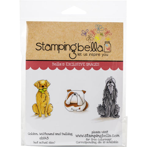 Stamping Bella Cling Stamps Golden, Wolfhound & Bulldog
