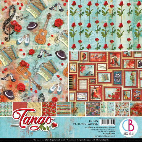 "Tango Ciao Bella Double-Sided Paper Pack 90lb 12""X12"" 8/Pkg"
