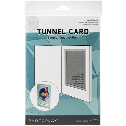 Photoplay Tunnel Cards 6/Pkg Makes 6