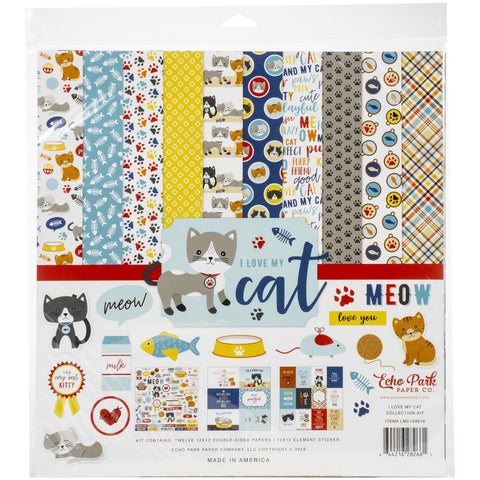 "Echo Park, I LOVE MY CAT - 12""x12"" Collection kit"