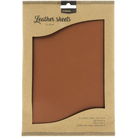 Studio Light Faux Leather Sheets A4 2/Pkg - Light Brown
