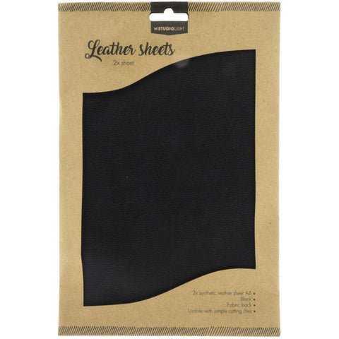 Studio Light Faux Leather Sheets A4 2/Pkg - Black