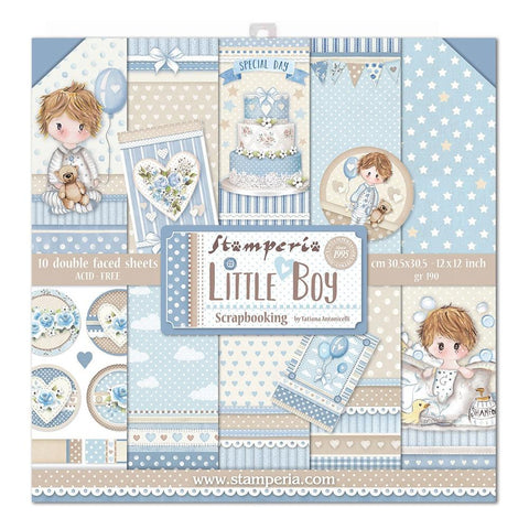 "Stamperia Double-Sided Paper Pad 12""X12"" 10/Pkg - Little Boy"