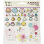 Simple Stories, Magical Birthday - Decorative Brads 30/Pkg