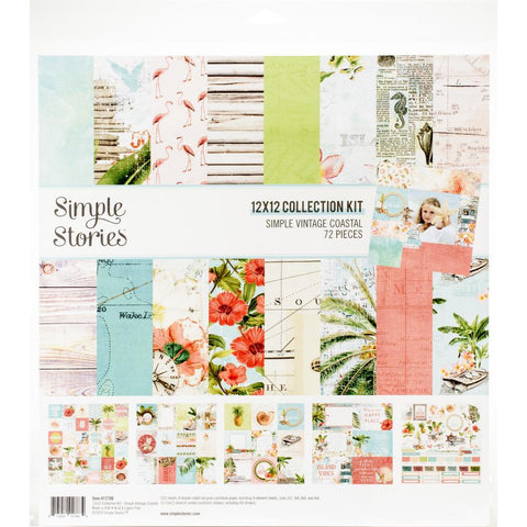 "Simple Stories Collection Kit 12""X12"" - Simple Vintage Coastal"