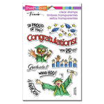 Stampendous Perfectly Clear Stamps Grad cadeau
