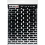"Darkroom Door Stencil 9""X12"" Brick Wall"