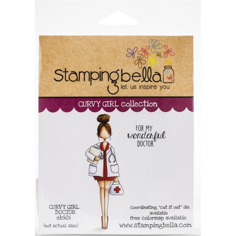 Stamping Bella Cling Stamps Curvy Girl Doctor