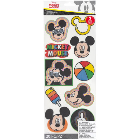 Mickey Head Badges - EK Disney Large Flat Stickers 2/Sheets