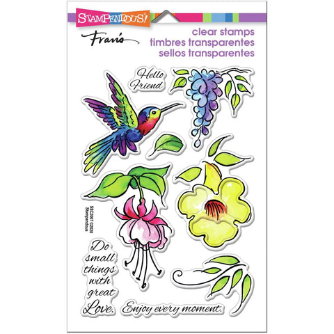 Stampendous Perfectly Clear Stamps Hummingbird
