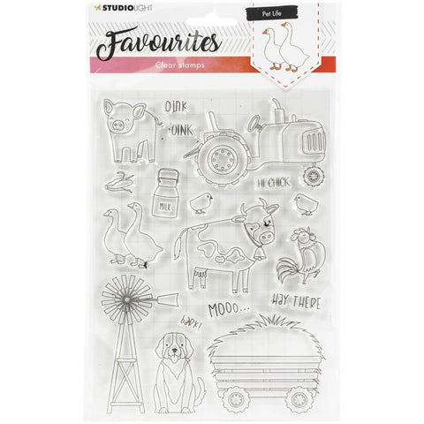 Studio Light Favourites A5 Stamps - pet life, farm