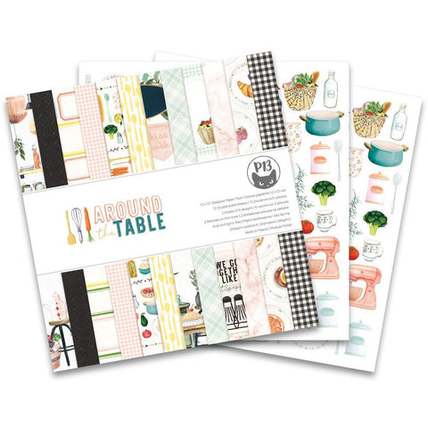 "P13 Double-Sided Paper Pad 12""X12"" 12/Pkg - Around The Table"
