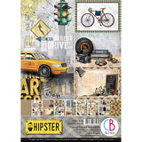 Ciao Bella, HIPSTER - Double-Sided Creative Pack 90lb A4 9/Pkg