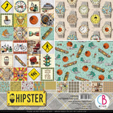 "Ciao Bella, HIPSTER - Double-Sided Paper Pack 90lb 12""X12"" 8/Pkg"