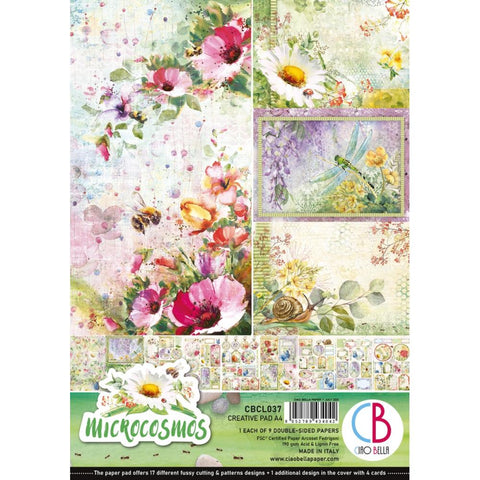 Ciao Bella, MICROCOSMOS - Double-Sided Creative Pack 90lb A4 9/Pkg