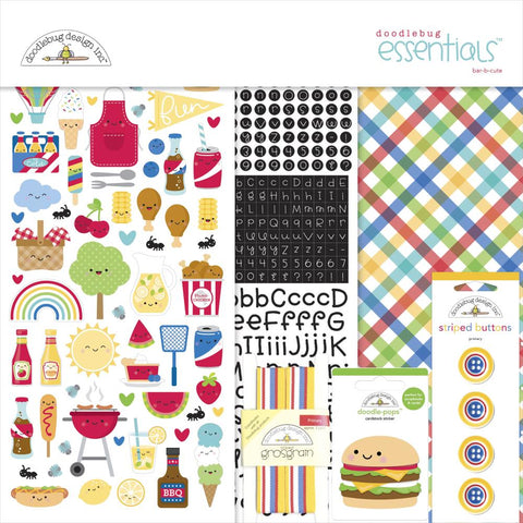 "Doodlebug Essentials Page Kit 12""X12"" - Bar-B-Cute"