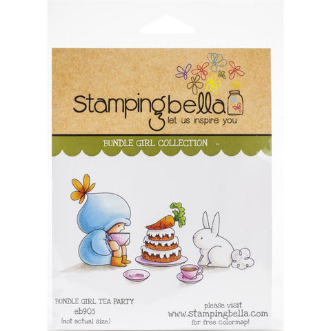 Stamping Bella Cling Stamps Bundle Girl Tea Party