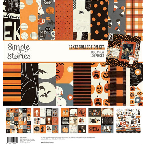 "Simple Stories Collection Kit 12""X12"" Boo Crew"