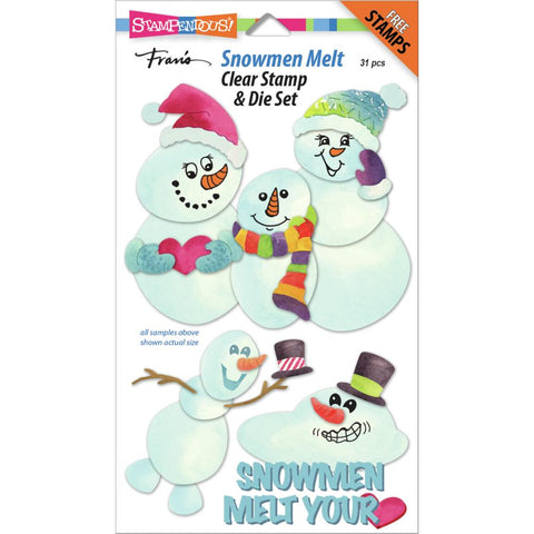 Stampendous Clear Stamp & Die Set - Snowmen Melt
