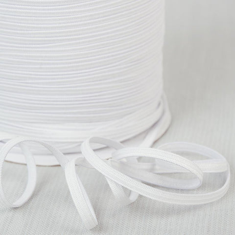 White Knit Elastic 5mm - Sold by the yard (priced per yard)