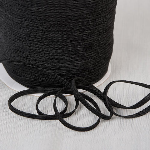 Black Elastic 5mmX220yds - Sold by the yard (Priced by the yard)