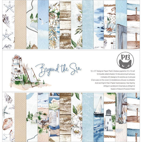 "P13 Double-Sided Paper Pad 12""X12"" 12/Pkg Beyond The Sea"