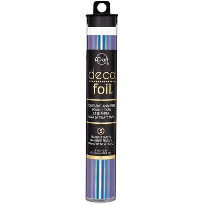 "Deco Foil Specialty Transfer Sheets 6""X12"" 5/Pkg Prince Periwinkle"