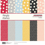 "Simple Stories Basics Double-Sided Paper Pack 12""X12"" 6/Pkg Say Cheese Main Street"