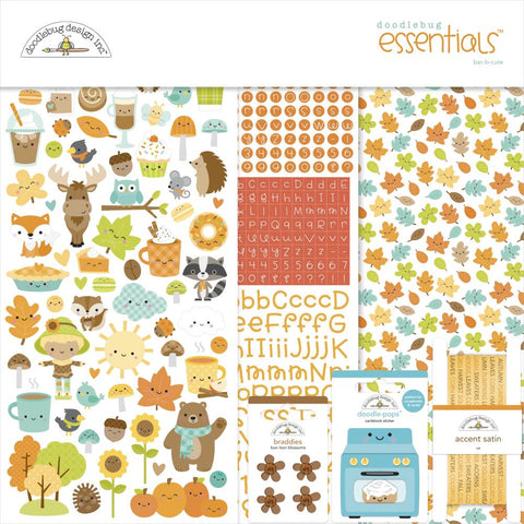 "Doodlebug Essentials Page Kit 12""X12"" Pumpkin Spice"