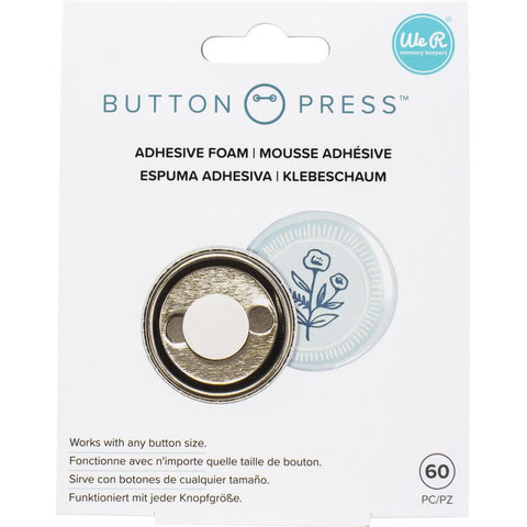 We R Memory Keepers Button Press Adhesive Foam 60/Pkg
