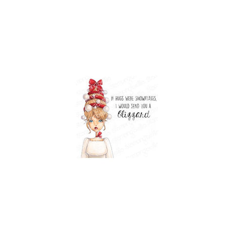 Stamping Bella Cling Stamps Mochi Ornament Girl