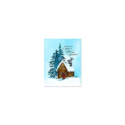 Penny Black Cling Stamps Cozy Cabin