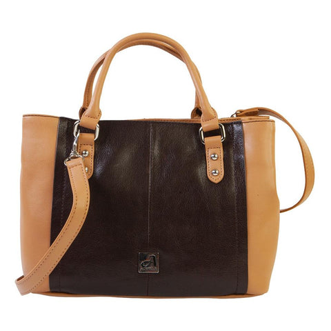"Prima Marketing Re-Design Purses -Limited Edition A305 Brown/Nut 12""X10""X5"" - REAL LEATHER"
