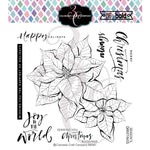 "Colorado Craft Company Clear Stamps 6""X6"" Poinsettia Blessings-Big & Bold"