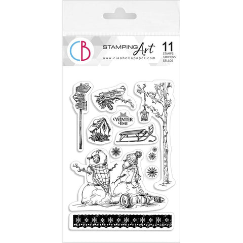 "Ciao Bella Stamping Art Clear Stamps 4""X6"" Winter Time"