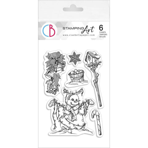 "Ciao Bella Stamping Art Clear Stamps 4""X6"" Winter Lights"
