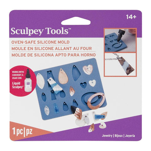 Liquid Sculpey Silicone Bakeable Mold W/Squeegee Jewelry