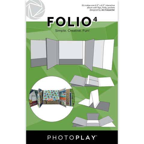 "PhotoPlay Folio 6.5""X6.5"" White"
