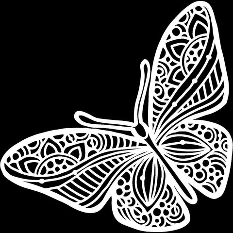 "Crafter's Workshop Template 6""X6"" Joyous Butterfly"