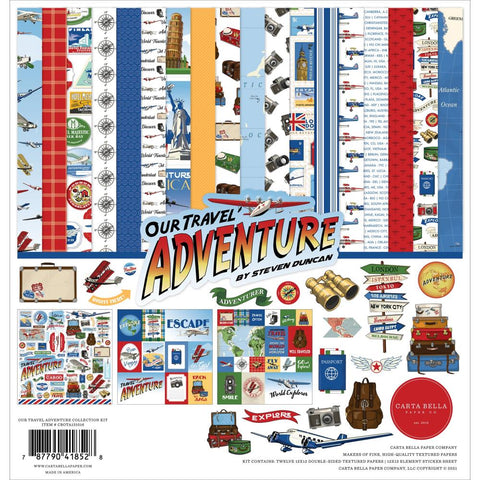 "Carta Bella Collection Kit 12""X12"" Our Travel Adventure"