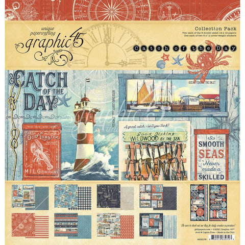 "Graphic 45 Collection Pack 12""X12"" Catch Of The Day"