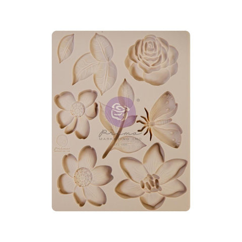 "Prima Marketing Decor Mould 3.5""X4.5""X8mm Watercolor Floral"