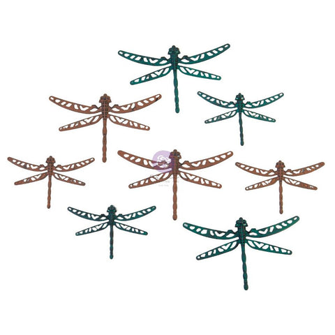 Finnabair Mechanicals Metal Embellishments Scrapyard Dragonflies, 8/Pkg