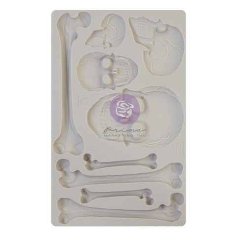 "Finnabair Decor Moulds 5""X8"" Skull & Bones"