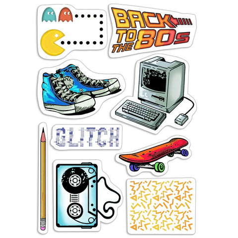 "Ciao Bella Bad Girls Clear Stamps 4""X6"" 80's"