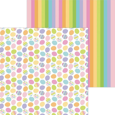 "Hippity Hoppity Double-Sided Cardstock 12""X12"" Hunting Eggs"