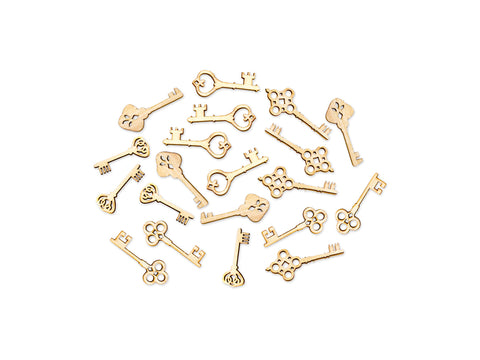 Vintage keys - Laser-Cut Wood Shapes