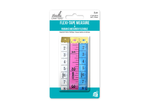 Needlecrafters Flexi-Tape Measure 3pc