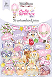 Set of die cuts CUTIE SPARROW GIRL